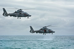 Eurocopters AS565豹 免版税图库摄影