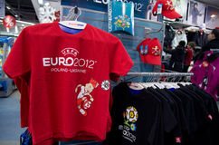 Eurocup 2012 merchandise Stock Photography