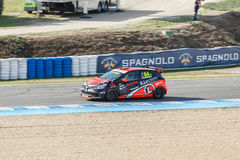 Eurocup Clio 2014年-埃里克Tremoulet - Vic'Team 免版税库存图片