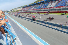 Eurocup Formula Renault 2.0 2014 - Starting grid Royalty Free Stock Image