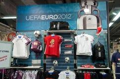eurocupmerchandise 2012 Royaltyfria Foton