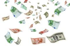 Eurodólar da troca de moeda. Imagens de Stock Royalty Free