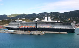 The Eurodam. St. Thomas, USVI - February 9: The Eurodam (Holland America) at port in St. Thomas on February 9, 2011. The Eurodam has a capacity of 2044 stock photos