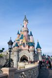 Eurodisney-White snow castle. French-Eurodisney-White snow castle Stock Image