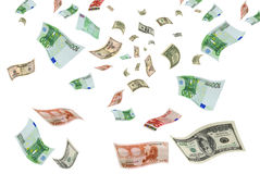 Eurodolar del comercio de divisas. Imágenes de archivo libres de regalías
