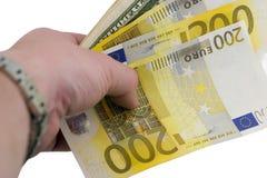 Eurodolares Imagen de archivo libre de regalías