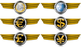 Eurodollar des Pfund-Yen Metal Wings Stockfotografie