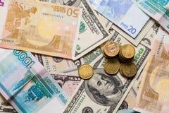 Eurodollarrubel royaltyfria bilder