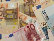 euroen bemärker reflexion Royaltyfri Foto