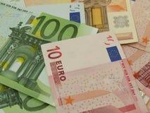 euroen bemärker reflexion Arkivbilder
