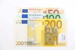 euroen bemärker reflexion Royaltyfri Bild