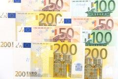 euroen bemärker reflexion Royaltyfri Fotografi