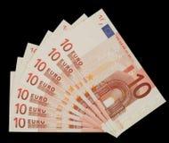 euroen bemärker tio Arkivfoto
