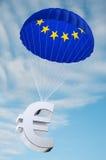 euroen hoppa fallskärm Royaltyfri Fotografi