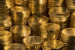 Euroen myntar Royaltyfria Foton