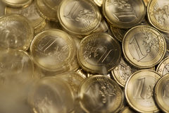 Euroen myntar Royaltyfri Fotografi