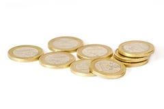 Euroen myntar arkivfoton