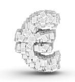 Euroen undertecknar, söker dokumentstilsorten Arkivbild