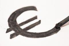 Euroen undertecknar Royaltyfri Bild