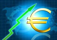 Euroerhöhungwertabbildung Lizenzfreies Stockbild