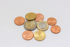 Euroet noterar pengar Arkivbilder