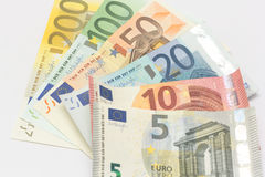 Euroet noterar pengar Royaltyfri Fotografi
