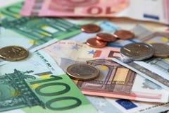 20 50 100 euroeuropean för 500 valuta Fotografering för Bildbyråer