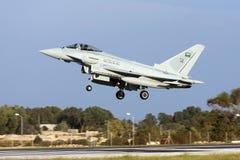Eurofighter på leveransflyg Royaltyfria Foton