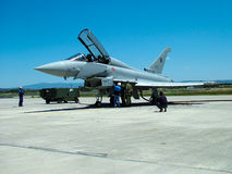 Eurofighter samolotu pilot zdjęcia royalty free