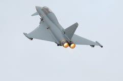 Eurofighter (Tyfoon) met nabrander royalty-vrije stock foto's