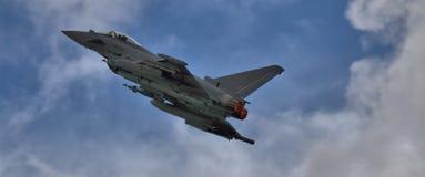 Eurofighter Typhoon on afterburner Royalty Free Stock Photos