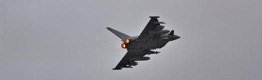 Eurofighter Typhoon on afterburner Royalty Free Stock Image