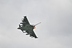 Eurofighter Typhoon on afterburner Royalty Free Stock Photography