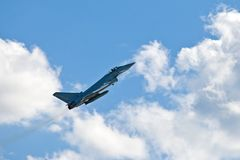 Eurofighter Typhoon military airplane Royalty Free Stock Photo