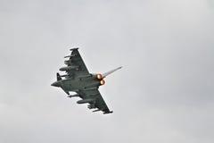 Eurofighter Typhoon op nabrander royalty-vrije stock fotografie