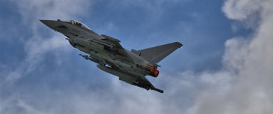 Eurofighter Typhoon op nabrander royalty-vrije stock foto's