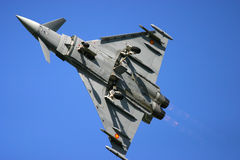 Eurofighter Typhoon at RAF Fairford air tattoo show in flight Stock Images