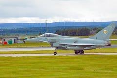 Eurofightertyfon för R A F Arkivfoton