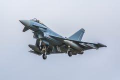 Eurofightervliegtuigen stock foto's