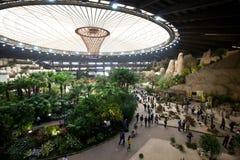Euroflora 2011 - een panorama van de Markt Stock Afbeelding