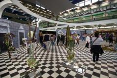 Euroflora 2011 - Eine panoramische Ansicht der Messe Lizenzfreie Stockbilder