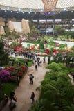 Euroflora 2011 - Eine panoramische Ansicht der Messe Lizenzfreies Stockbild