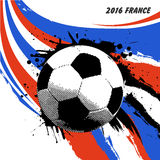 EuroFrankrike fotboll 2016 stock illustrationer