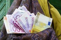 Eurogeld Stockbild
