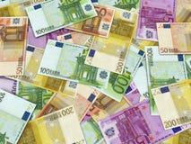Eurogeld-Banknoten Stockfoto