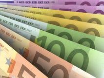 Eurogeld-Banknoten Stockfotos