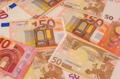 Eurogeld-Beschaffenheit Stockbilder