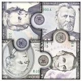 Eurogeld in der Hand Stockbild