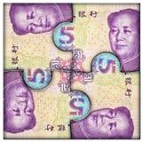 Eurogeld in der Hand Lizenzfreie Abbildung