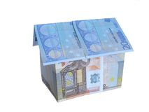 Eurogeld-Haus Stockfotografie